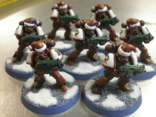 Christmas Marines Ornaments outsede their bubbles