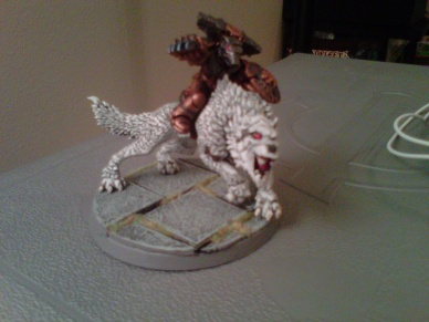 Wolfguard Battle Leader on Thunderwolf
