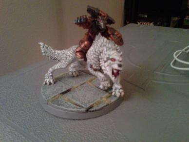 Wolfguard Battle Leader on Thunderwolf
