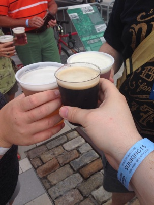 First beer of Gen Con! (The barrel aged Froth of Khan was delicious!)