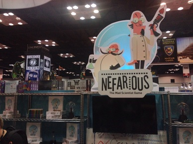 Nefarious, from the game designer who brought you Dominion. Probably my favorite new game I tried today.