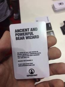 An exclusive Super Fight card I scored.