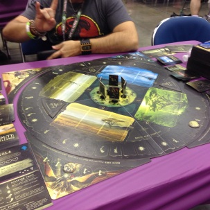 When Darkness Comes Rattling (aka-when a board game kicks my ass) from Wyrd: really cool cooperative game that we failed at spectacularly. I'm not normally a huge fan of co-op games, but I really enjoyed playing this. I'll be picking it up when I see it at the FLGS.
