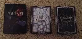 This game has three decks: the Main Deck, Light Magick, and Shadow Magick.