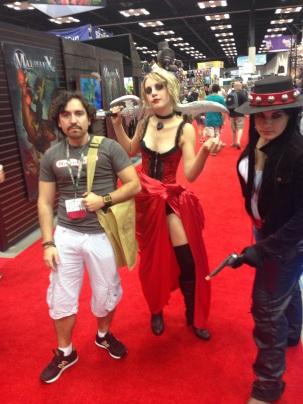 Some great Malifaux cosplay: Cassaundra and Perdita.