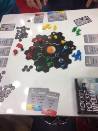 Pocket Imperium from Ludicreations: a quick little space game. I enjoyed it, but for some reason it just didn't inspire me enough to pull out my wallet.