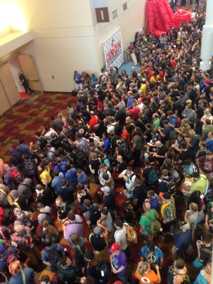 The newest member of our band of adventurers is down there somewhere.