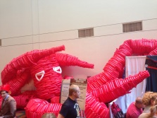 The gigantic balloon monster is coming along nicely
