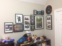 While cleaning and organizing my hobby room I added to my wall of awesome, nerdy things.