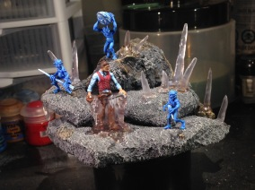 All of the figures and ice are in place!