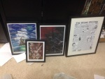 I got some art from the Ren Faire and a book signing! Keeping the nerd room classy!