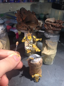 Most of the details are done or just need the final highlight; now it's on to painting the base and the dreaded Yellow!