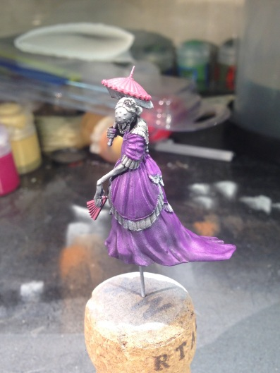 I am really liking the start I have on the Widow Weaver; this is going to be a really fun model to paint.
