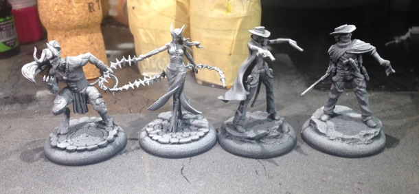 I primed the Nephilim twins and my plastic Gunsmiths but haven't started in on painting them yet.