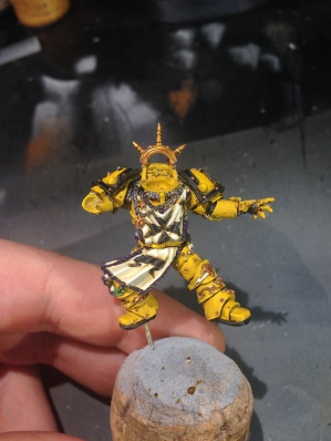 I started in on the yellow parts of Sigismund and I am liking the results thus far. Still needs some highlighting, but it's heading in the right direction.