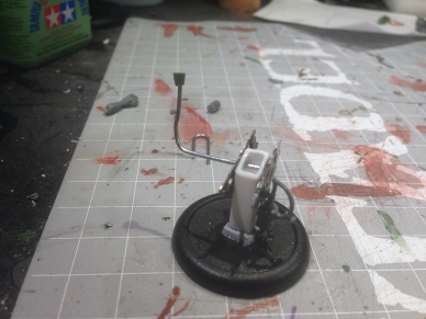 I added some machinery and a lever to the table.