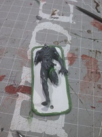 Patching up the gaps I made to position Frank properly. Also, I've decided to call the Flesh Construct Frank.