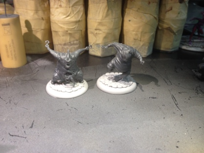 I actually did do a little work other than Iron Painter--I glued two of my Stitched Together to bases (I ran out of bases, so the third is still baseless).