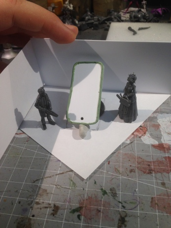 Getting the layout for my Iron Painter diorama figured out.