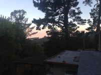 The Califaux Crashpad was all the way up in the hills of Oakland and this was our view at sunset.