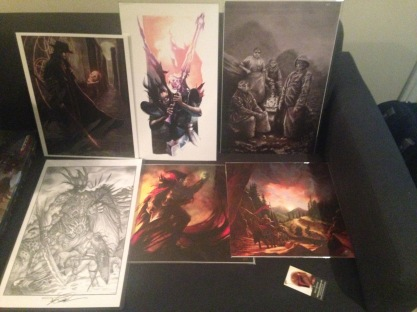 Some cool art I picked up at Gen Con that will be decorating my nerd room.