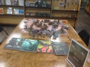 I ran some Malifaux demos at a new gaming shop that opened in the area!