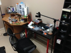 My new and improved hobby area!