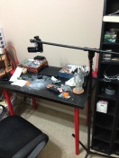 A better look at the overhead rig for my video camera.