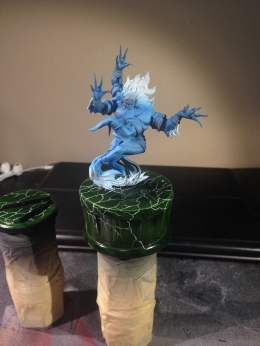 I put Banasuva on his base to get and idea of how everything will look once it's done. Oh yeah, I also started paint him up this week too.