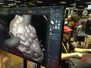 Some ZBrush action at the Steamforged Games booth