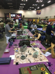 I stopped by the Tyrant of Malifaux finals before I started by volunteering shift